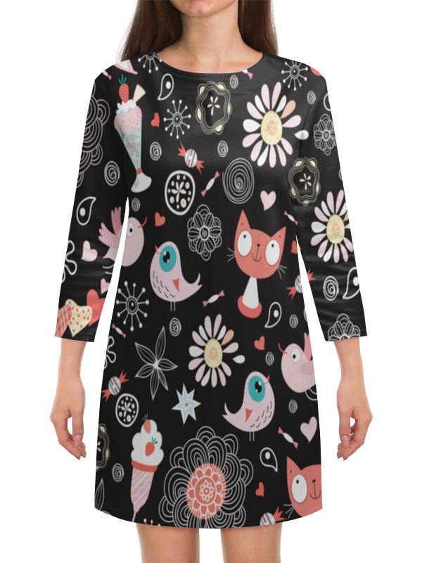 Платье с рукавами Printio Котики