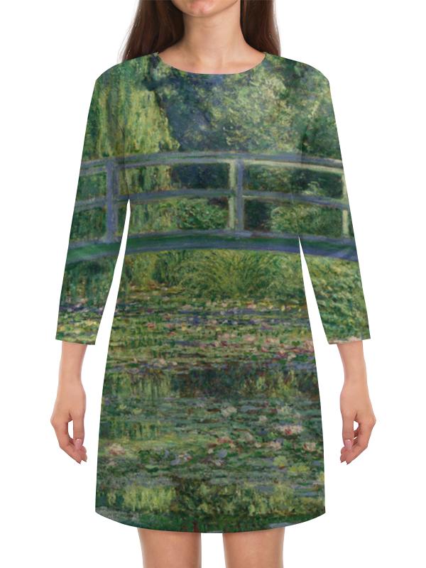 Платье с рукавами Printio Пруд с водяными лилиями (клод моне)