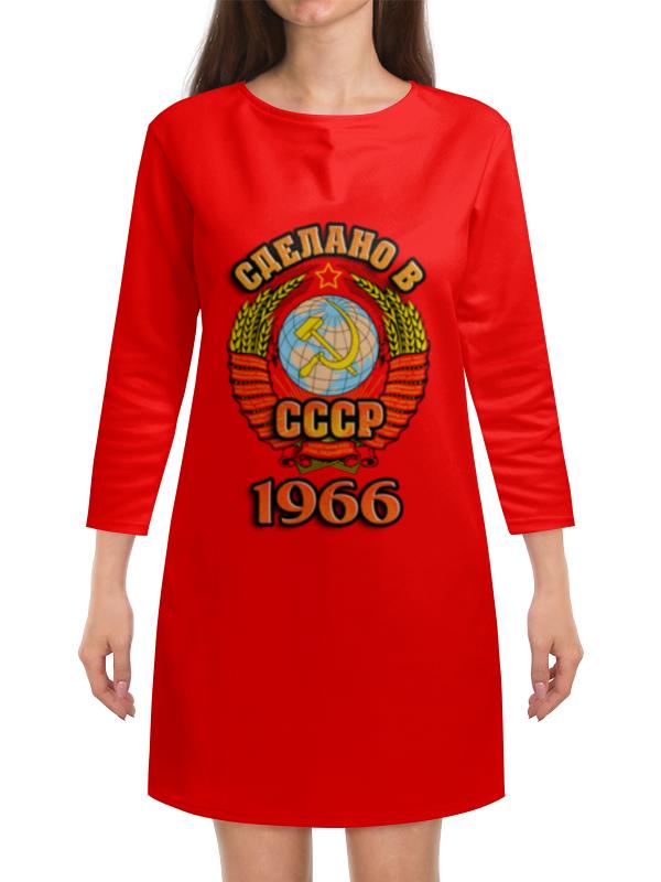 Платье с рукавами Printio Сделано в 1966 платье с рукавами printio новый год
