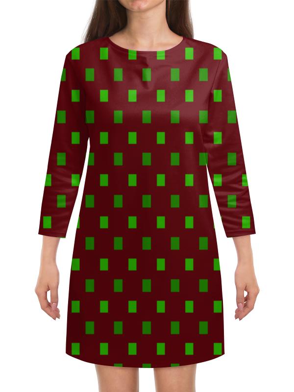 Платье с рукавами Printio Зеленые квадраты платье с рукавами printio сине зеленые квадраты