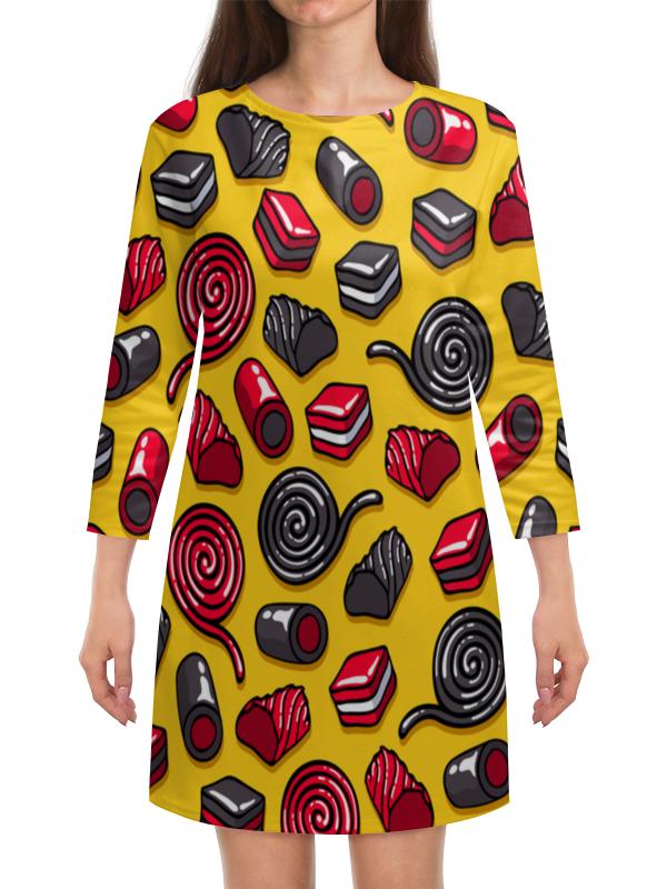 Платье с рукавами Printio Конфетки