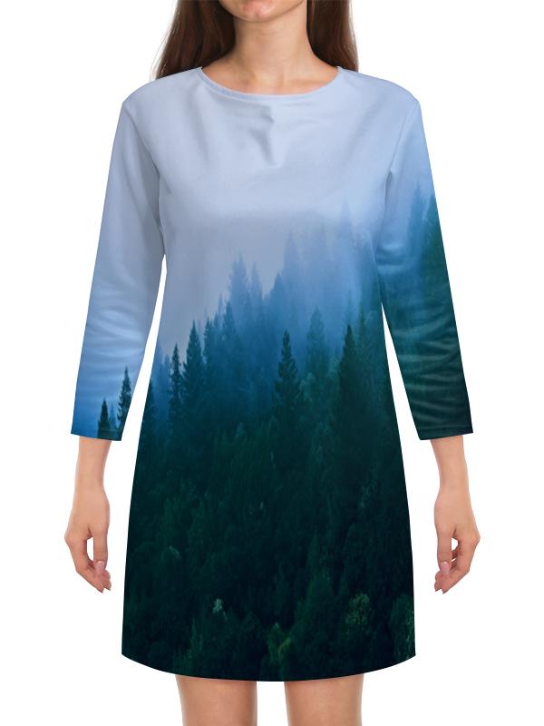 Платье с рукавами Printio Лесной пейзаж жк лесной городок одинцово купить квартиру
