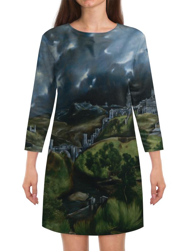 Платье с рукавами Printio Вид толедо (картина эль греко) континенталь плаза бич шарм эль шейх тур