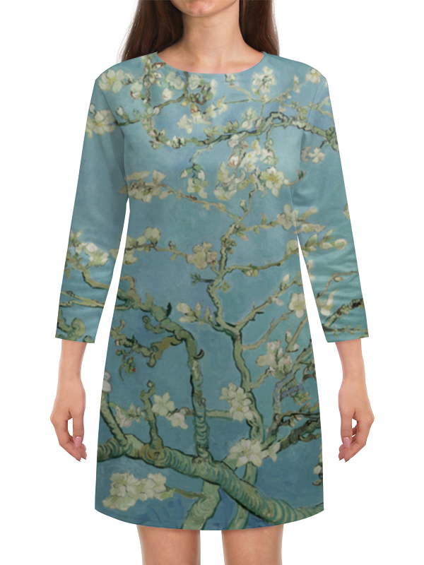 Платье с рукавами Printio Цветы миндаля (ван гог) блокнот в пластиковой обложке ван гог цветущие ветки миндаля формат малый 64 страницы арте
