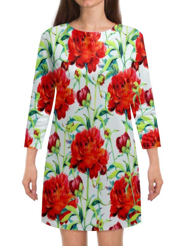 Платье с рукавами Printio Пионы блендер philips hr 1626 00