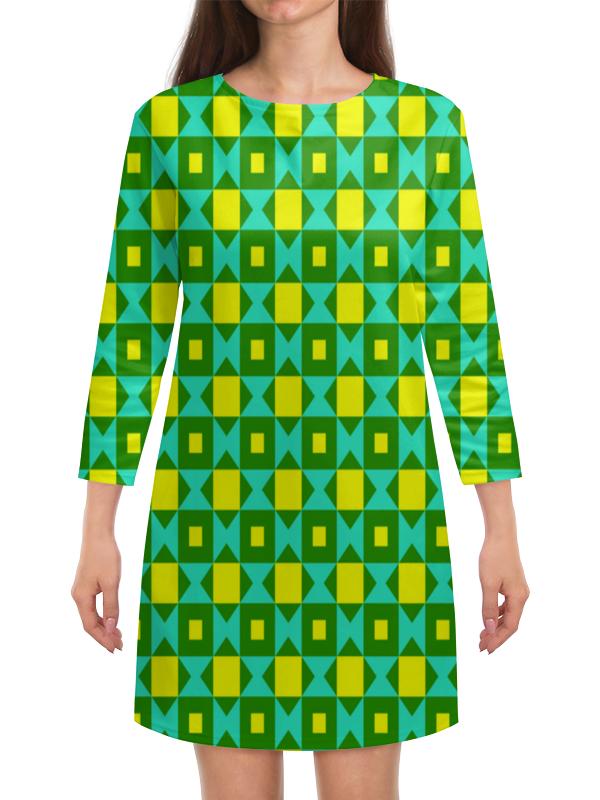 Платье с рукавами Printio Графический узор графический дизайн