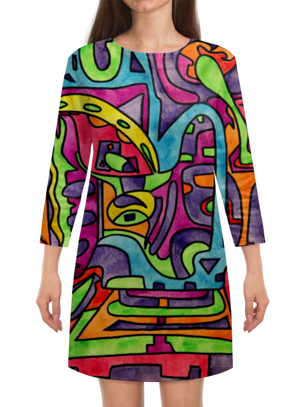Платье с рукавами Printio Fp`pf-[]80
