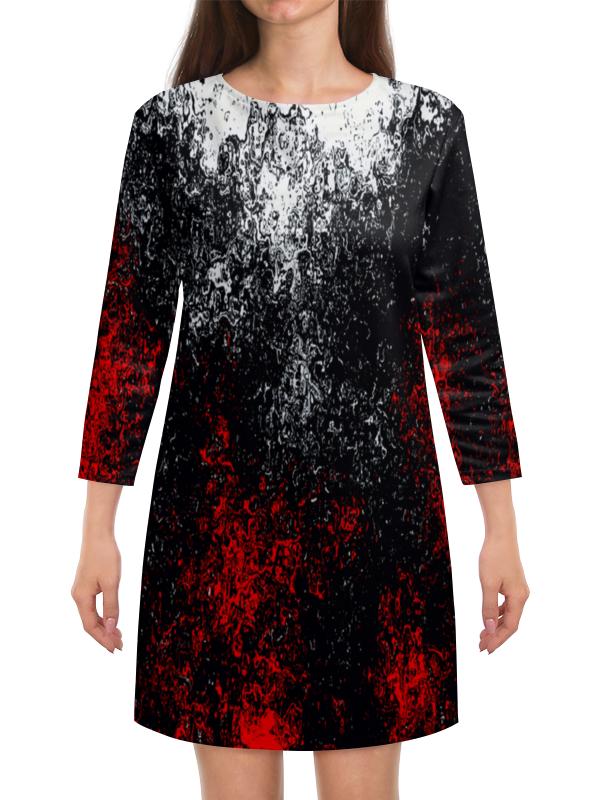 Платье с рукавами Printio Смесь красок смесь ненни харьков дешевле