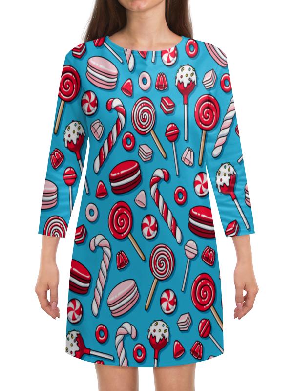 Платье с рукавами Printio Сладости сладости раскраска