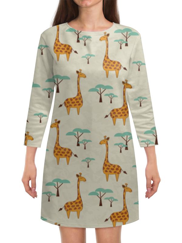Платье с рукавами Printio Жирафы lori фоторамки из гипса жирафы