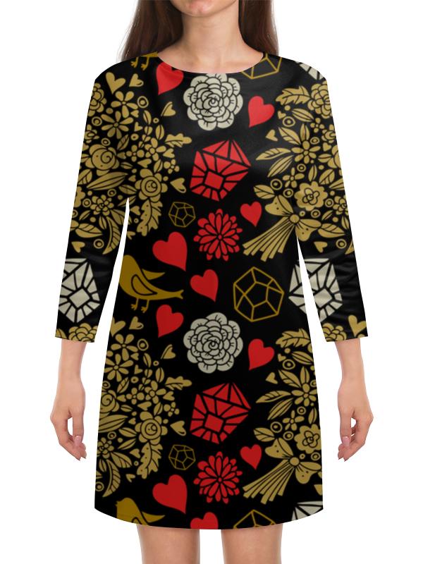 Платье с рукавами Printio День св. валентина
