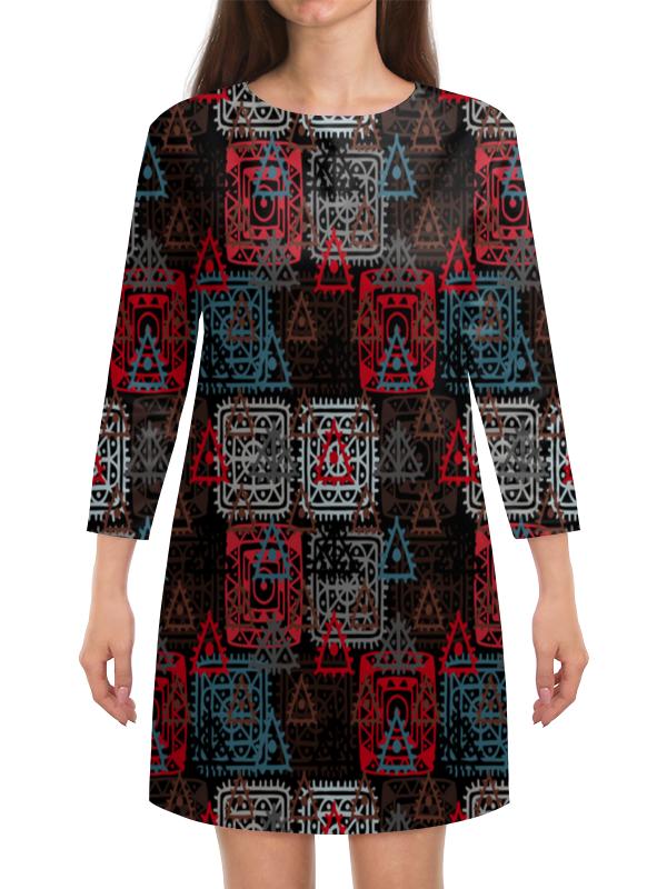 Платье с рукавами Printio Графический орнамент графический дизайн