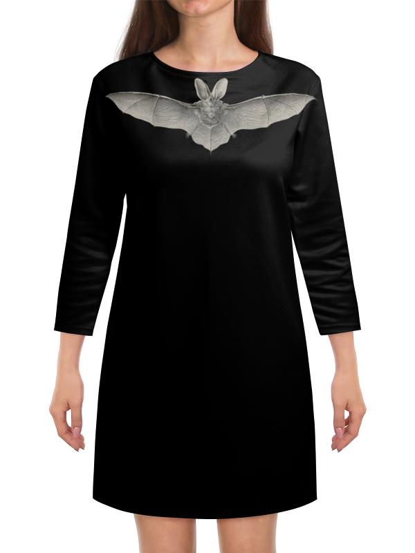 Платье с рукавами Printio Летучая мышь, ernst haeckel полуприлегающее платье с рукавами летучая мышь s