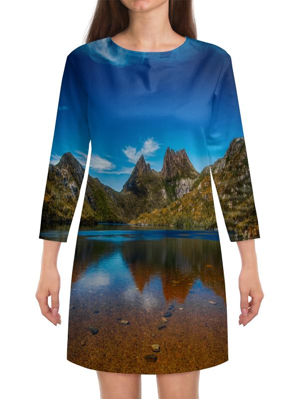 Платье с рукавами Printio Небо над горами фосселер николь небо над дарджилингом