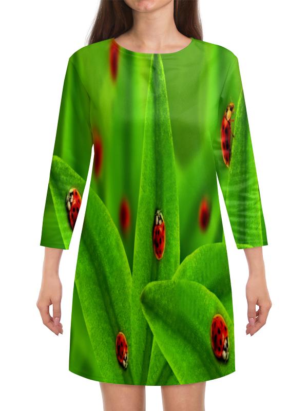 Платье с рукавами Printio Божьи коровки эксмо божьи дела