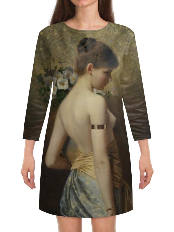 Платье с рукавами Printio Флора (макс нонненбрух) салонный фильтр мазда демио dy3w