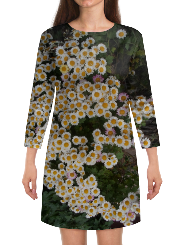 Платье с рукавами Printio Белые хризантемы татьяна шпинькова белые хризантемы