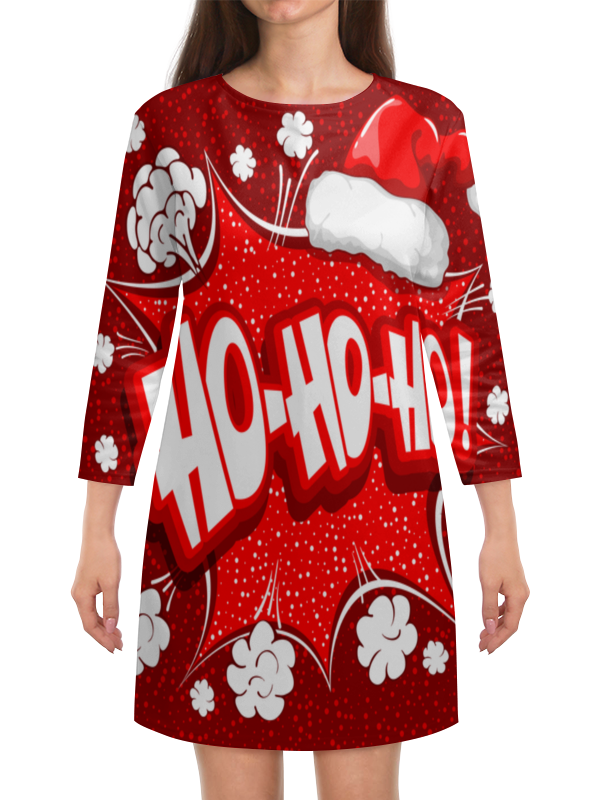 Платье с рукавами Printio Ho ho ho коврик для мышки printio ho ho ho
