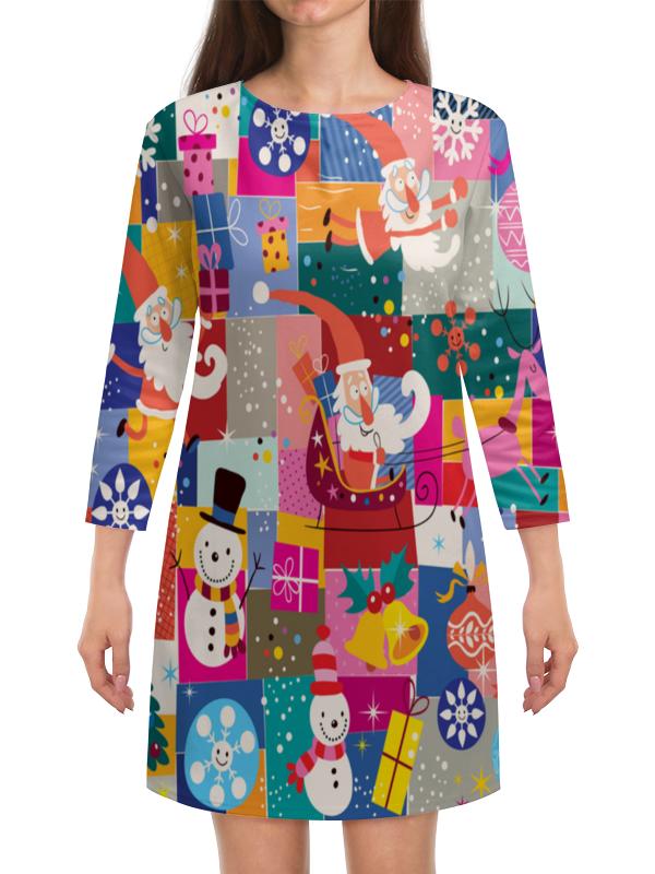 Платье с рукавами Printio Санта и подарки сумка printio подарки