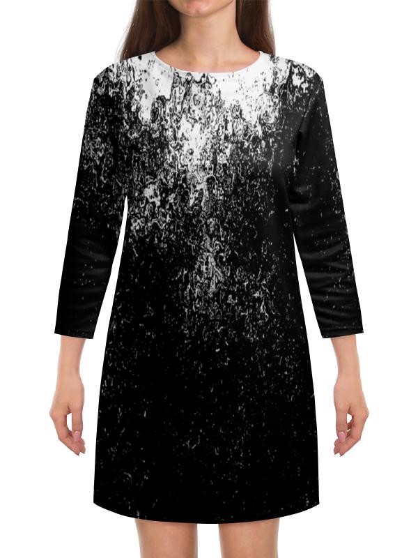 Платье с рукавами Printio Черно-белые краски платье с рукавами printio краски на воде