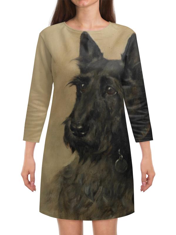 Платье с рукавами Printio Встречаем год собаки платье с рукавами printio новый год