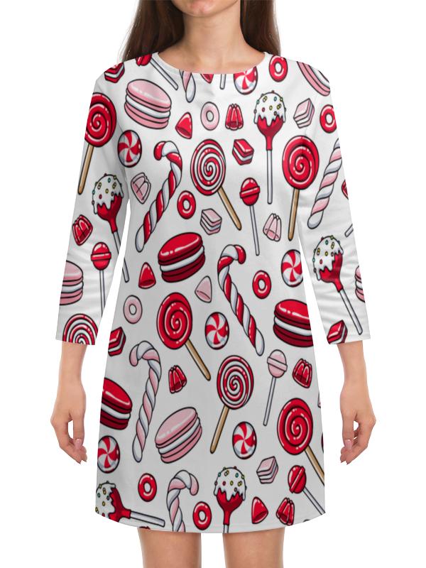 Платье с рукавами Printio Леденцы цены онлайн