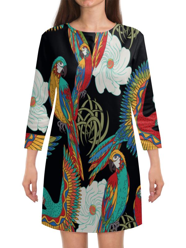 Платье с рукавами Printio Попугаи попугаи розелла фото москва