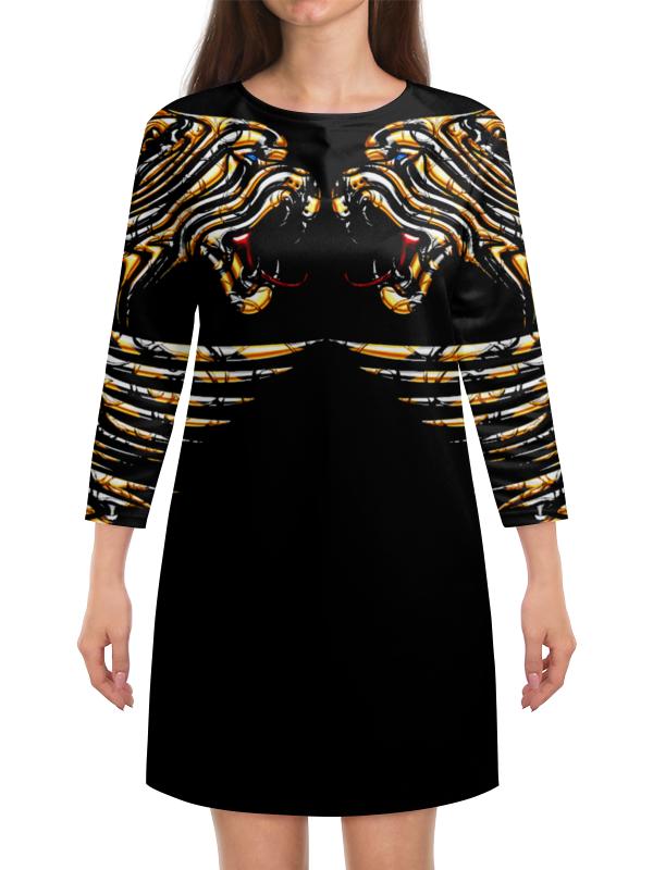 Платье с рукавами Printio Тигр защищающий. тигр лежащий t2021k o