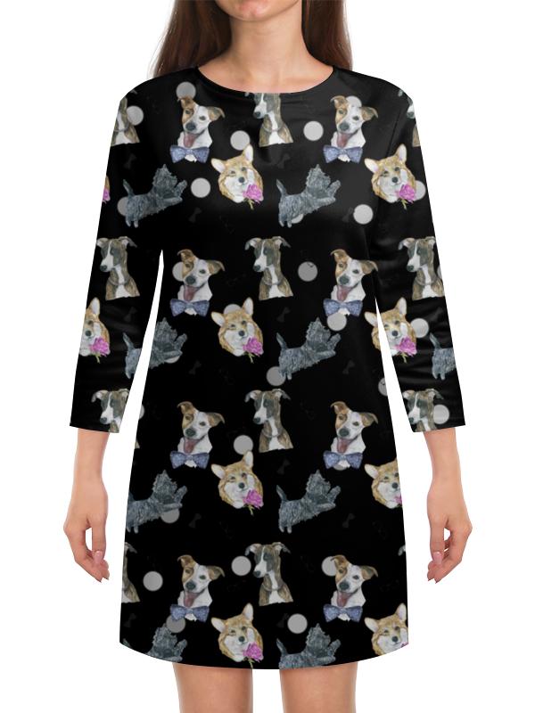 Платье с рукавами Printio Моя любимая собака любка мариуш моя любимая книга о животных