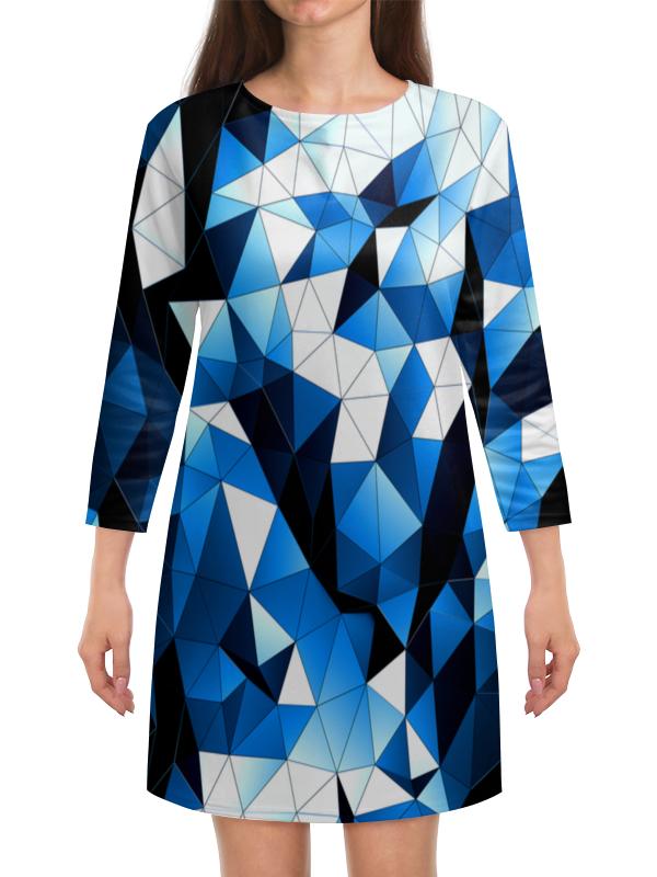 Платье с рукавами Printio Цветные стекла 100 грамовые стеклянные бутылочки из стекла цветные