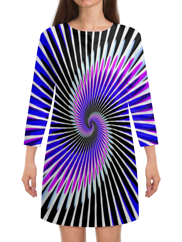 Платье с рукавами Printio Абстракция линий платье с рукавами printio абстракция треугольники