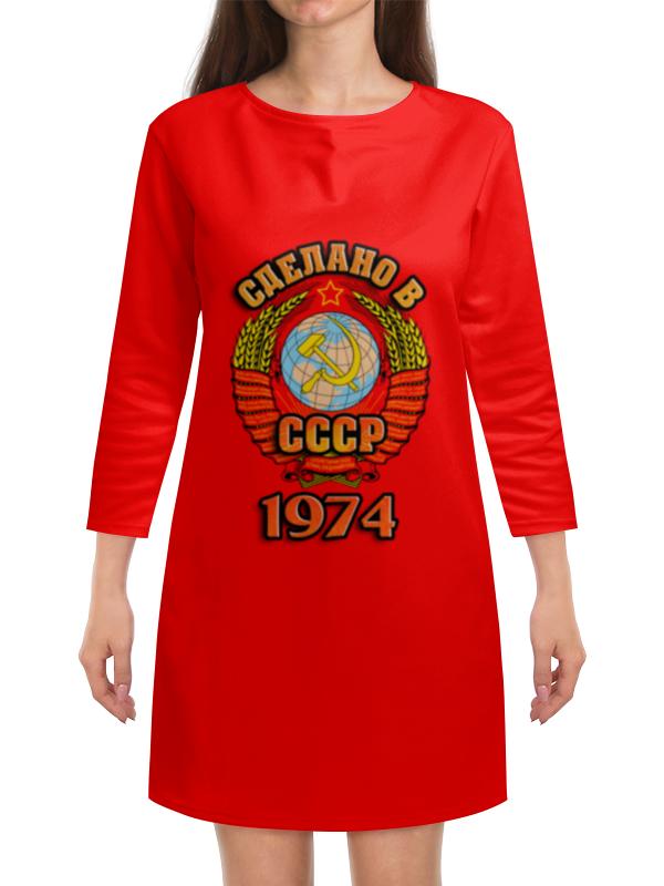Платье с рукавами Printio Сделано в 1974 платье с рукавами printio новый год