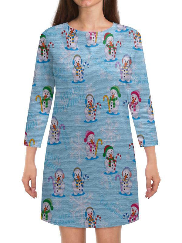 Платье с рукавами Printio Снеговики кружка printio снеговики