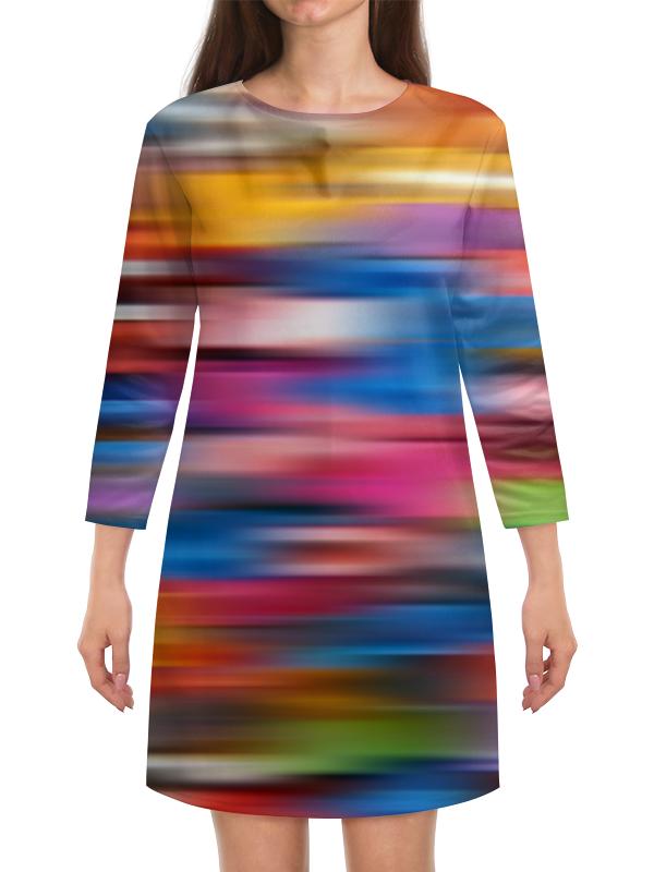 Платье с рукавами Printio Краски радуги платье с рукавами printio краски на воде