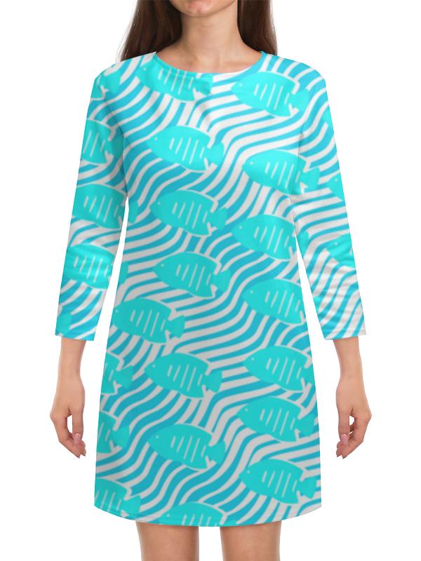 Платье с рукавами Printio Тропические рыбки аквариумные рыбки в ейске