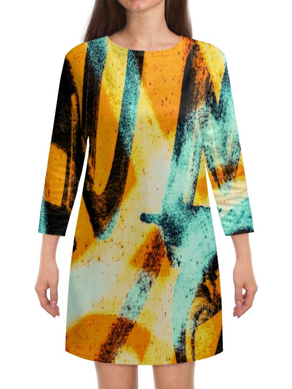 Платье с рукавами Printio Граффити красками платье с рукавами printio цветы красками