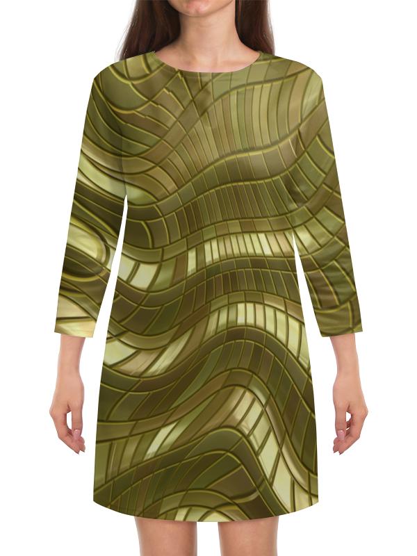 Платье с рукавами Printio Золотые полосы