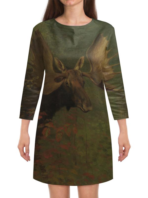 Платье с рукавами Printio Лось (study of a moose) (альберт бирштадт) phytochemical study of bioactive flavonoids of some leguminosae plants