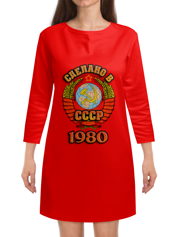 Платье с рукавами Printio Сделано в 1980 платье с рукавами printio новый год