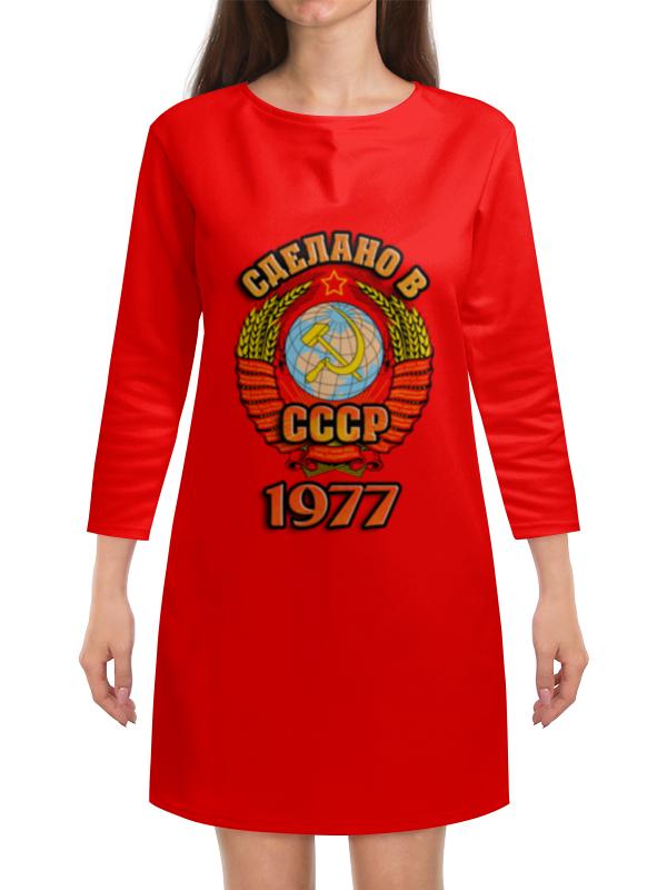 Платье с рукавами Printio Сделано в 1977 платье с рукавами printio новый год