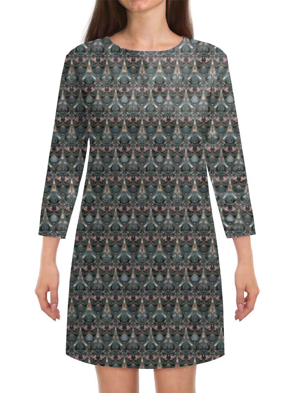 Платье с рукавами Printio Модный флоральный паттерн милитари в минске рубашку милитари