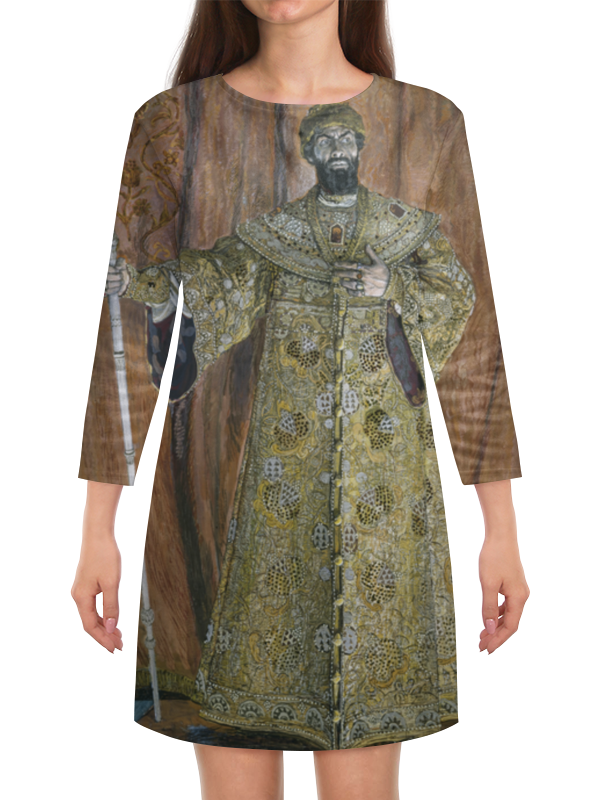 Платье с рукавами Printio Фёдор шаляпин в роли бориса годунова фёдор шаляпин русский оперный гений