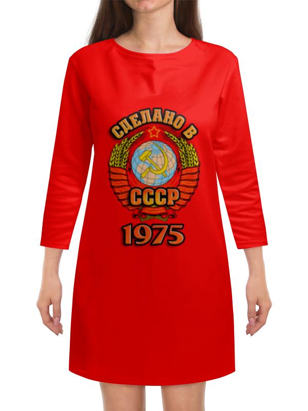 Платье с рукавами Printio Сделано в 1975 платье с рукавами printio новый год
