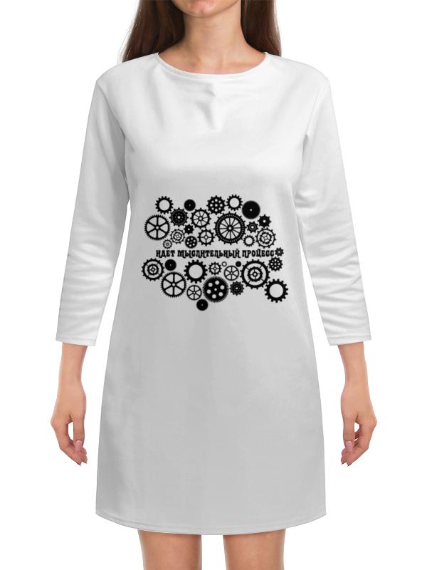 Платье с рукавами Printio Шестеренки спиннер шестеренки