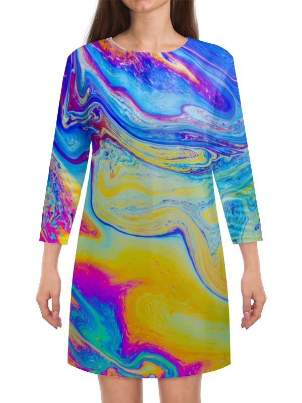 Платье с рукавами Printio Краски платье с рукавами printio краски на воде