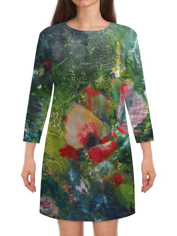 Платье с рукавами Printio Южный ветер падение сквозь ветер