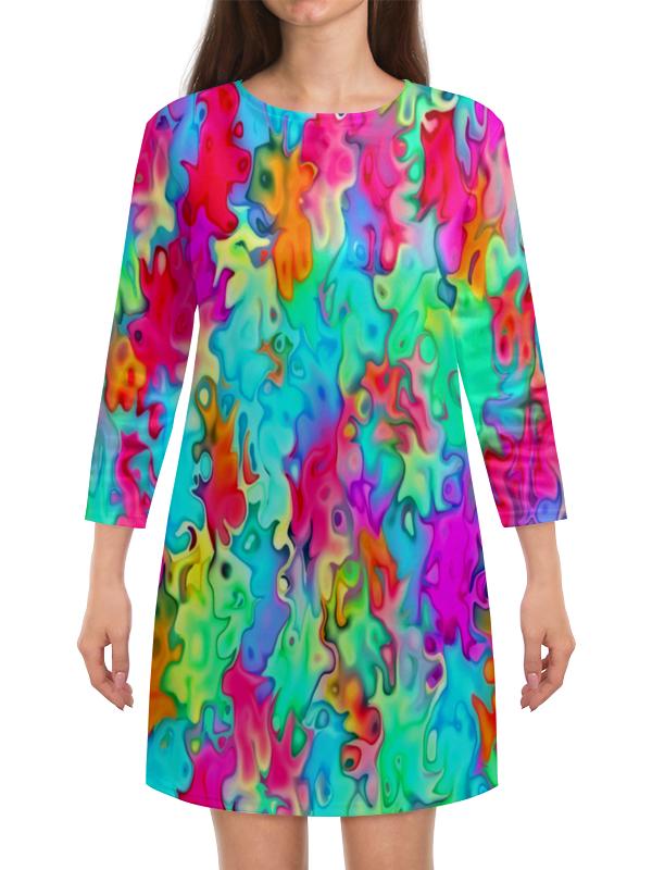 Платье с рукавами Printio Краски на воде платье с рукавами printio краски на воде