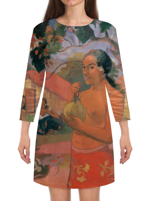 Платье с рукавами Printio Женщина, держащая плод (поль гоген) рюкзак с полной запечаткой printio женщина держащая плод поль гоген