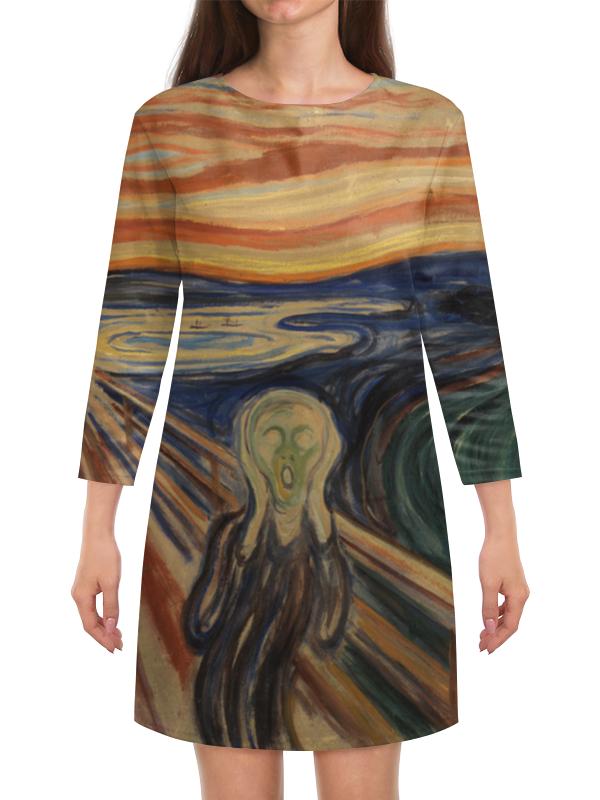 Платье с рукавами Printio Крик (картина мунка) тетрадь на скрепке printio крик картина мунка