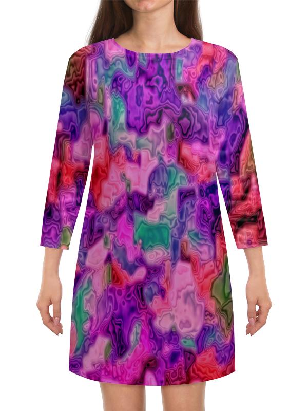 Платье с рукавами Printio Неоновые краски платье с рукавами printio краски на воде